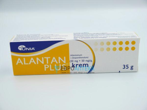 Алантан Плюс (20 мг + 50 мг)/г, 35 г, крем. Фото 1