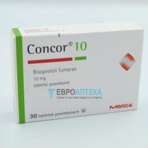 Конкор 10 мг, №30 - таблетки. Фото 1