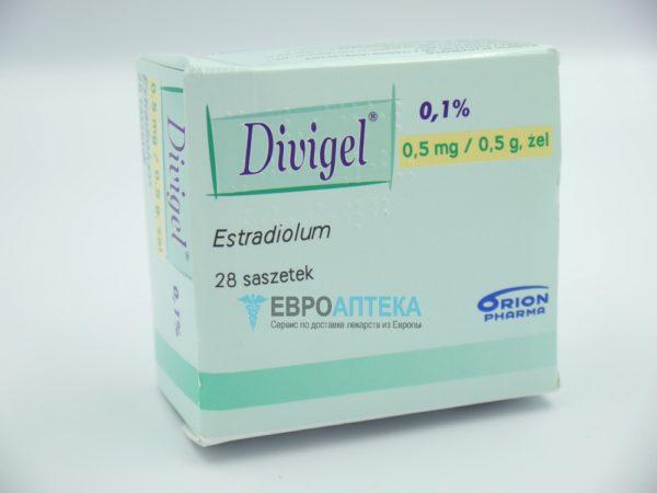 Дивигель 0,1%, 0,5 мг / 0,5 г, 28 пакетиков - гель. Фото 1