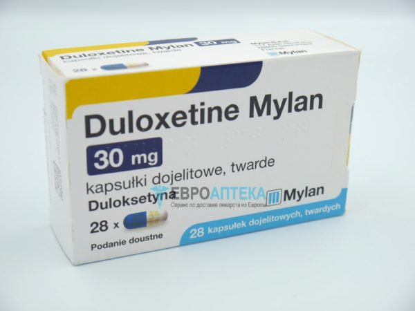 Дулоксетин 30 мг, №28 - капсулы. Фото 1
