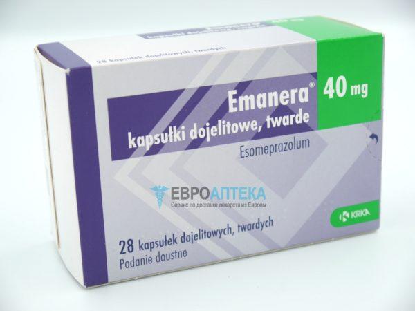Эманера 40 мг, 28 таб. Фото 1