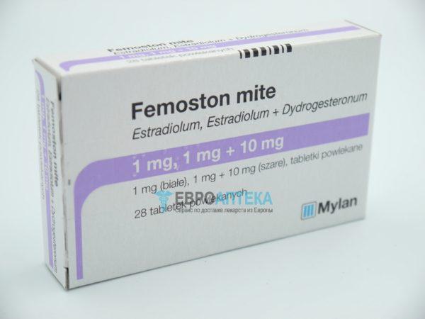 Фемостон Майт 1мг, 1 мг + 10 мг, №28 - таблетки. Фото 1