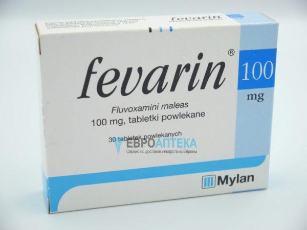 Феварин 100 мг, 30 таб. Фото 1