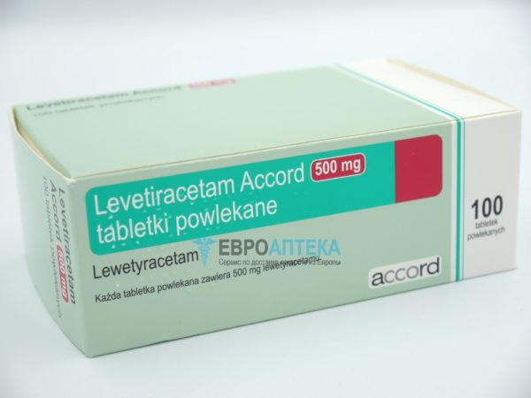 Леветирацетам Аккорд 500 мг, 100 таб. Фото 1