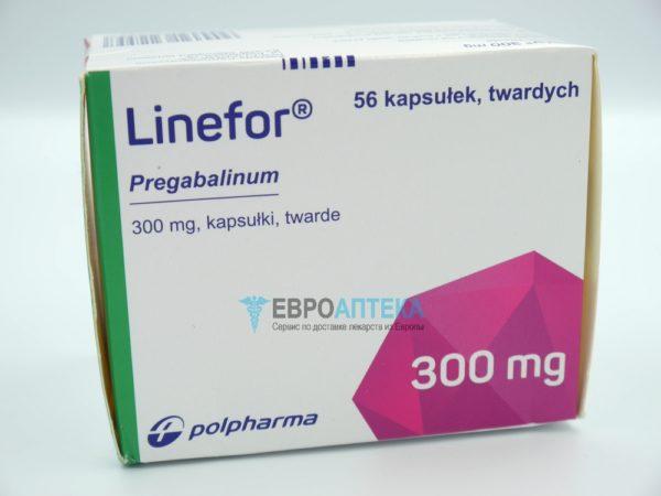 Прегабалин Линефор 300 мг, №56 - капсулы. Фото 1