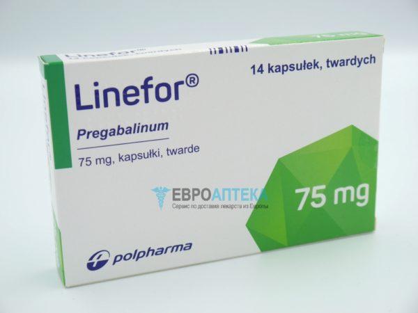 Прегабалин Линефор 75 мг, №14 - капсулы. Фото 1