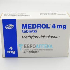 Медрол 4 мг, №30 - таблетки. Фото 1