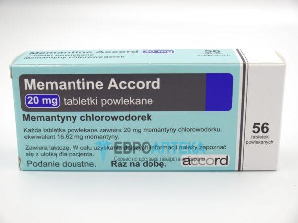 Мемантин Аккорд 20 мг, №56 - таблетки. Фото 1