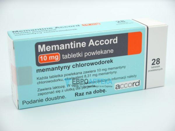 Мемантин Аккорд 10 мг, 28 таб. Фото 1