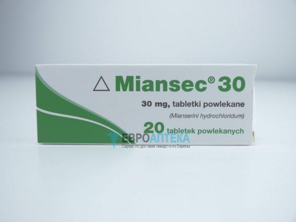 Миасер 30 мг, 20 таблеток. Фото 1