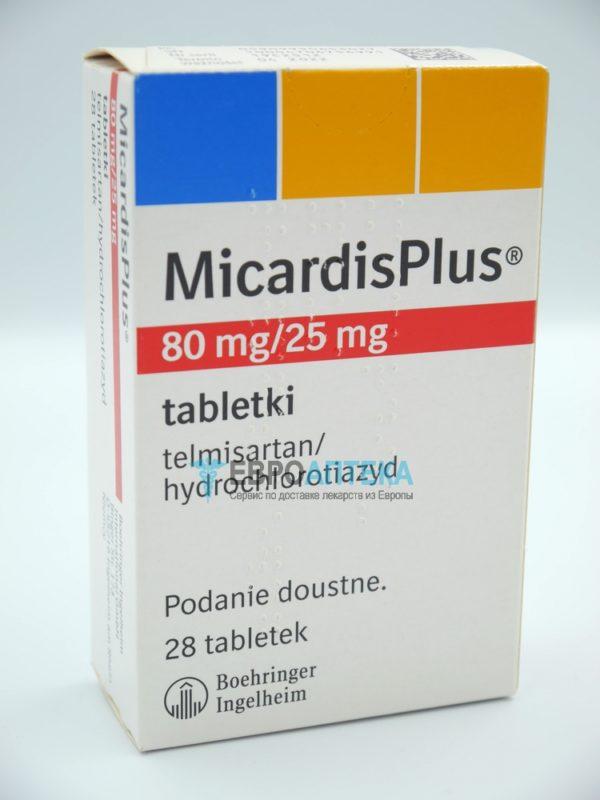 Микардис Плюс 80 мг + 25 мг, 28 таб. Фото 1