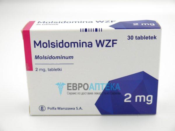 Молсидомин WZF 2 мг, №30 - таблетки. Фото 1