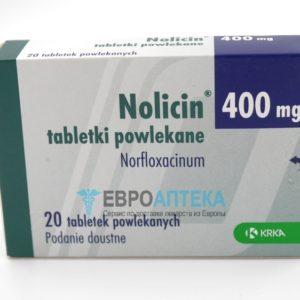 Нолицин 400 мг, №20 - таблетки. Фото 1
