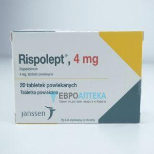 Рисполепт, 4 мг, 20 таблеток. Фото 1