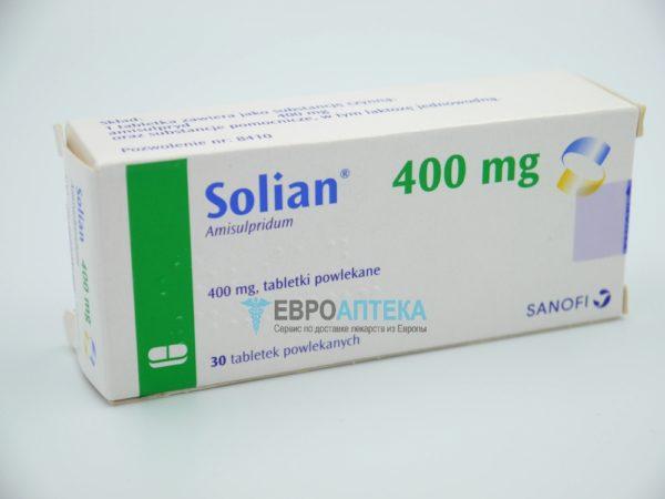 Солиан 400 мг, 30 таб. Фото 1