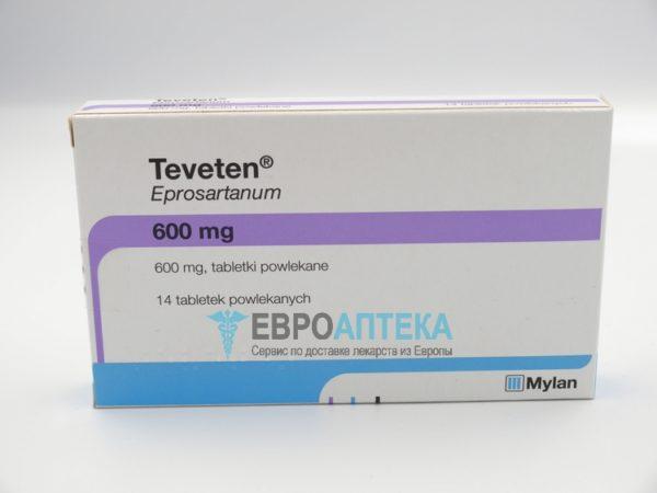 Теветен 600 мг, №14 - таблетки. Фото 1