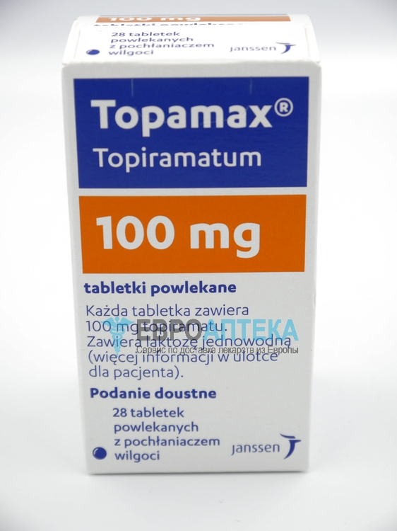 Топамакс 100 мг, №28 - таблетки. Фото 1