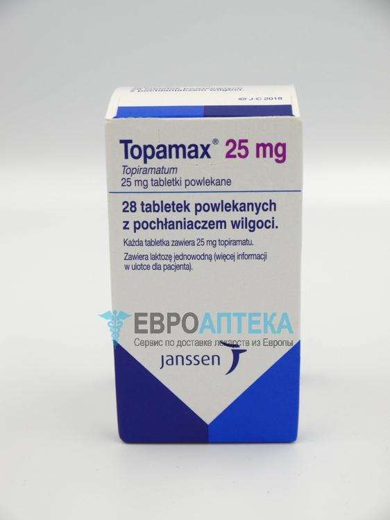 Топамакс 25 мг, №28 - таблетки. Фото 1